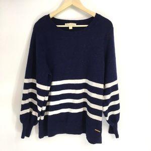 Michael Kors Blue Balloon Sleeve Sweater